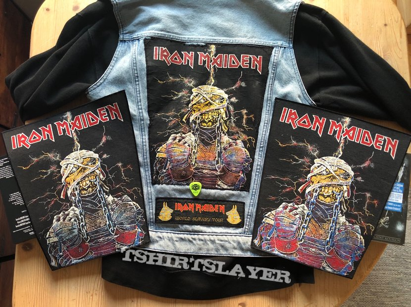 Iron Maiden - Powerslave Mummy - World Slavery Tour Backpatch - Different Versions