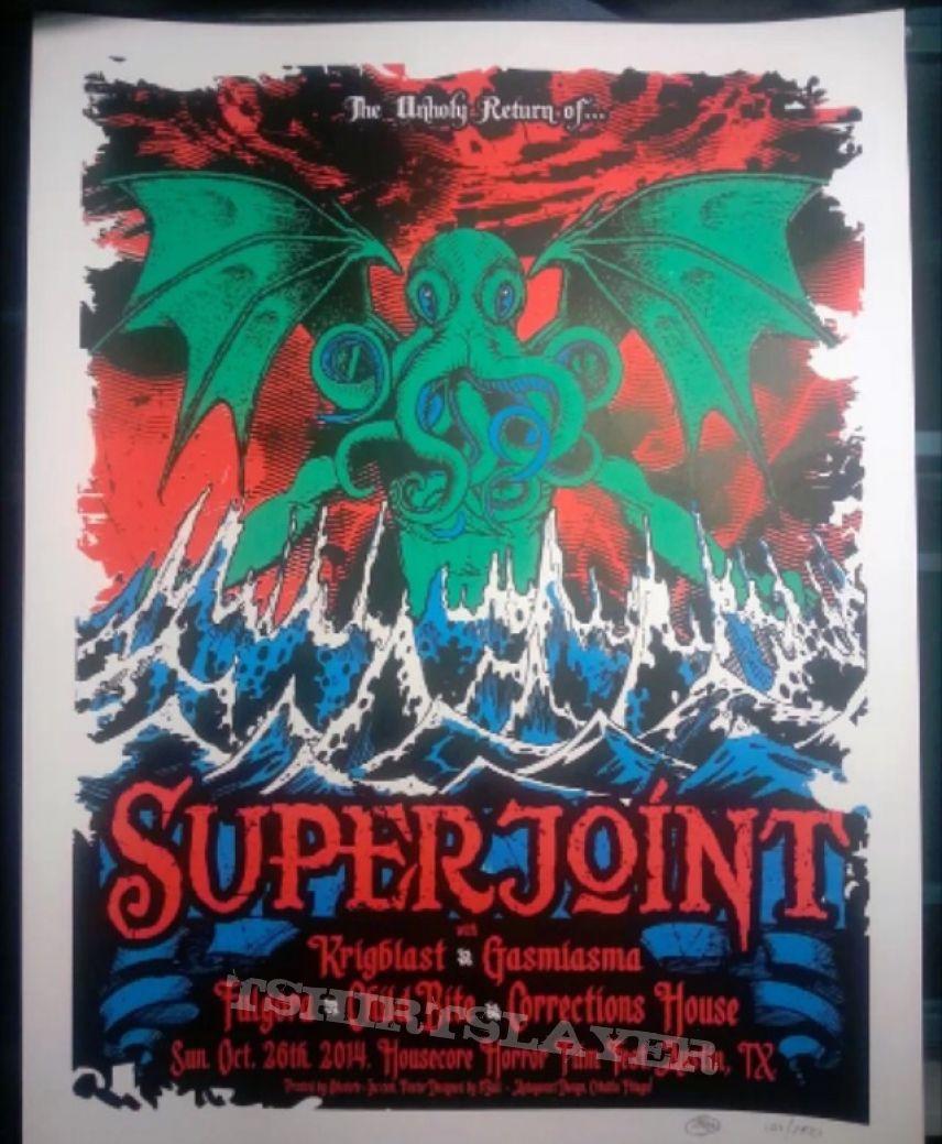 Superjoint Ritual reunion tour poster 10/26/14