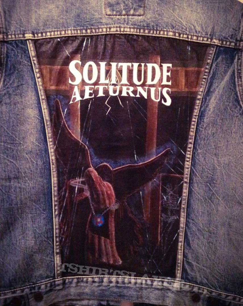 Solitude Aeturnus - Through the Darkest Hour - Painted Denim Jacket