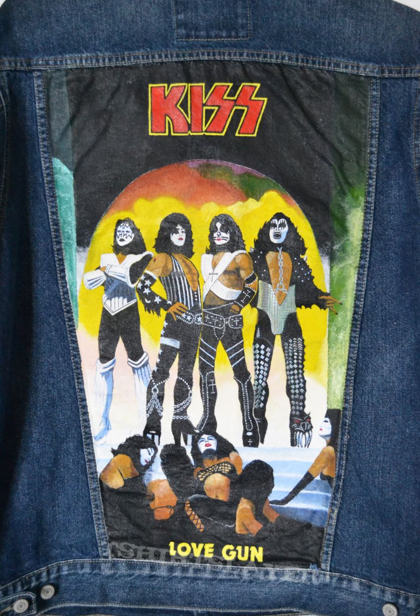 KISS - Love Gun - Painted Denim Jacket