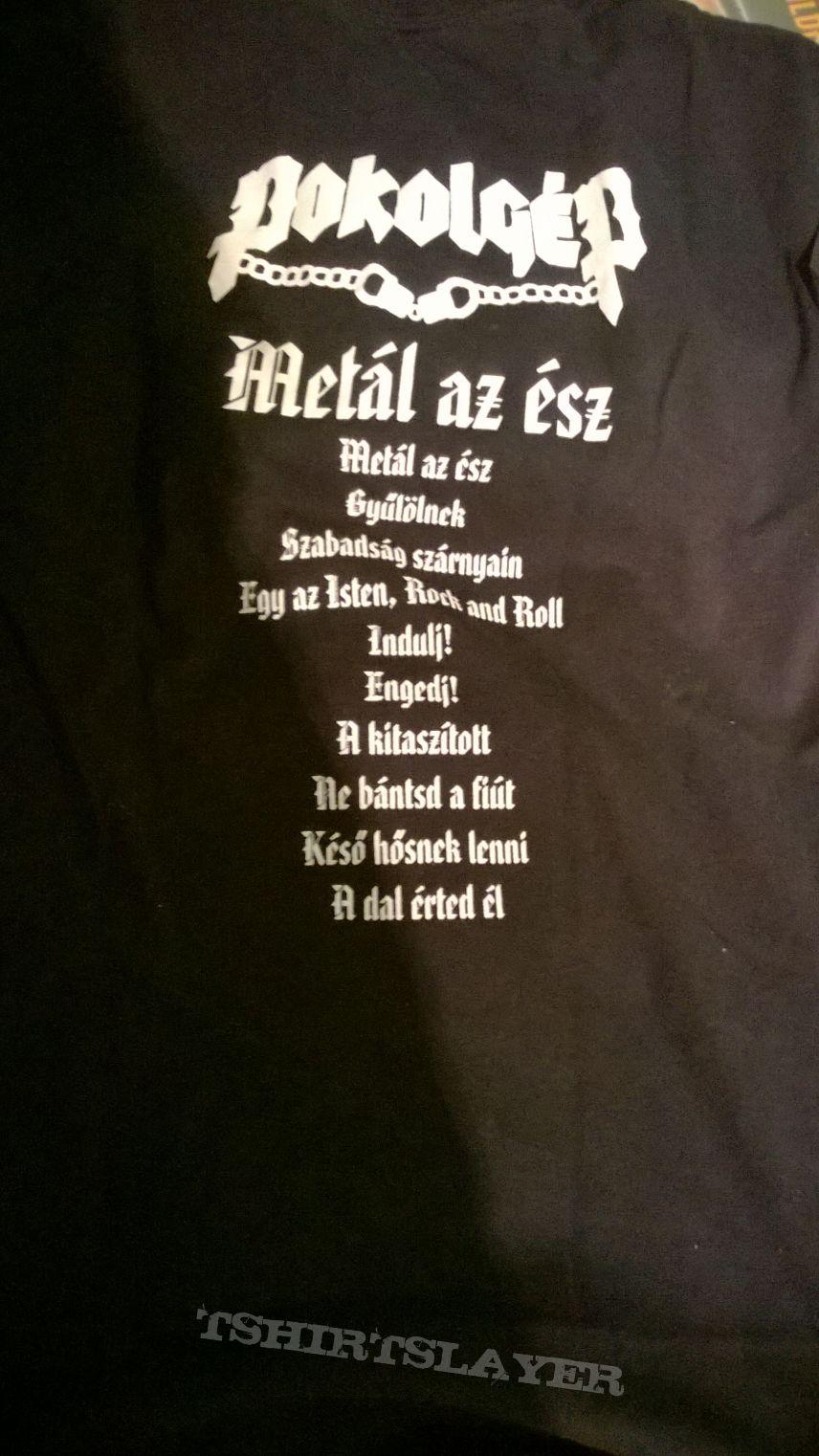 Pokolgép Metál az ész shirt