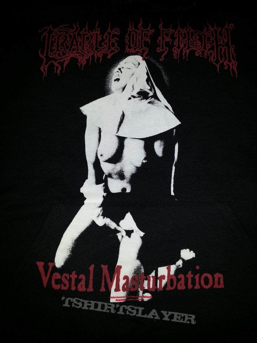"cradle of filth ""vestal masturbation"" hoodie"