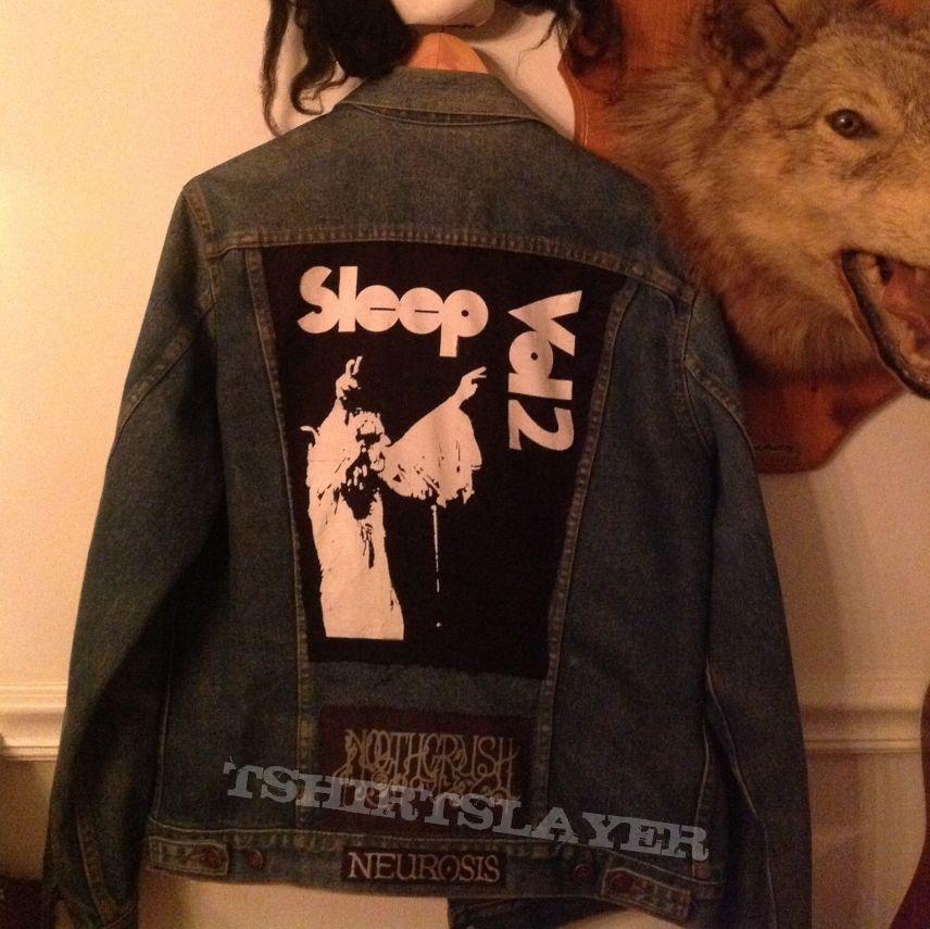 Longsleeve denim battle jacket