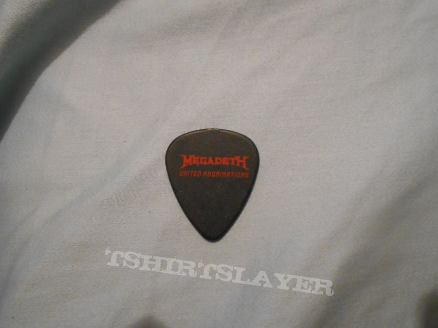 """Megadeth """"United Abominations"""" Dave Mustaine Guitar Pick"""