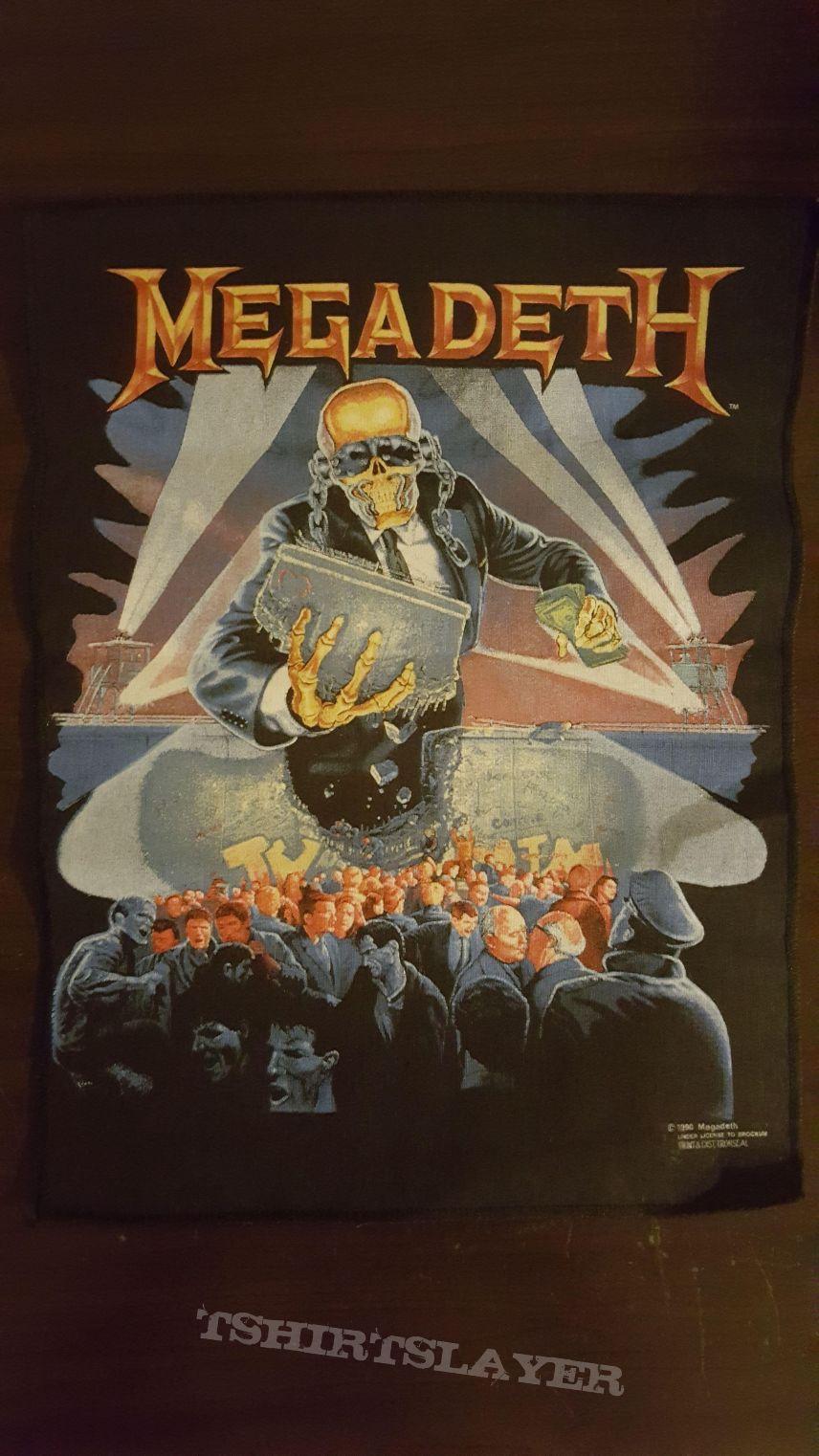 Megadeth - Berlin Wall 1990 backpatch