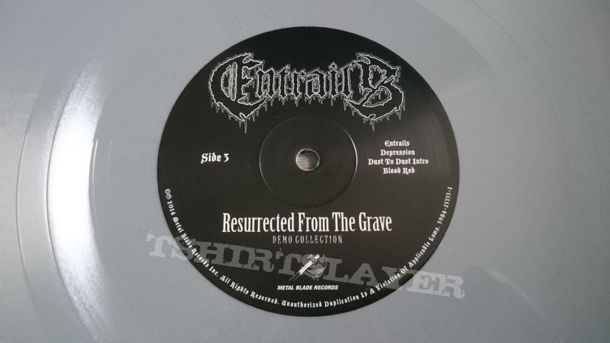 "Entrails - Resurrected From The Grave 2x12"" Tombstone Gray Vinyl"