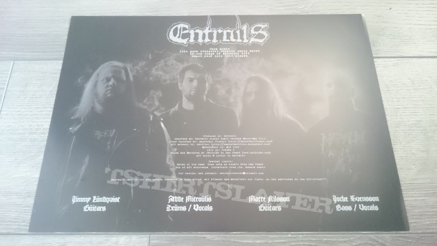 "Entrails - The Tomb Awaits 12"" Pus Yellow Vinyl + Patch & Mini-Poster"