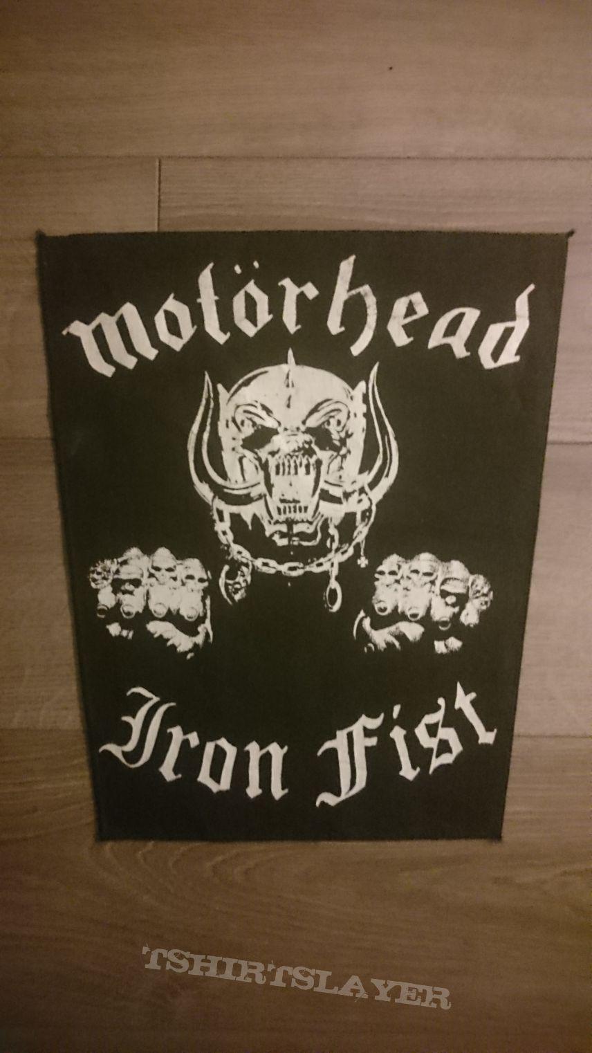 Motörhead - Iron Fist Back Patch (White)