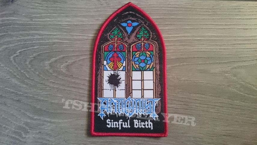 Antichrist - Sinful Birth Patch (Electric Assault Records)
