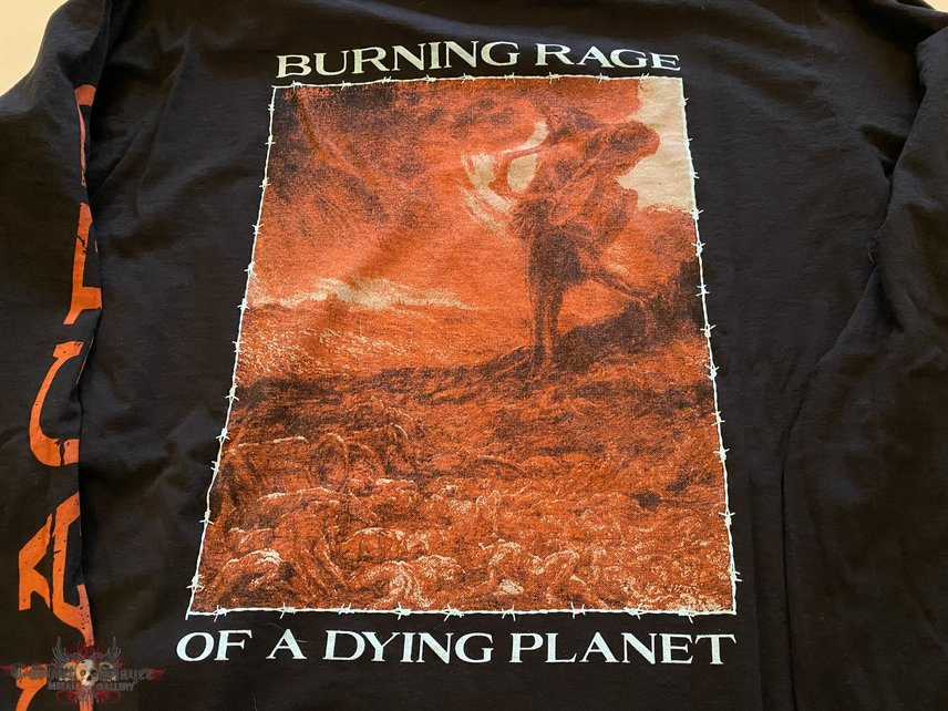 """CAGED """"burning rage of a dying planet"""" longsleeve shirt"""