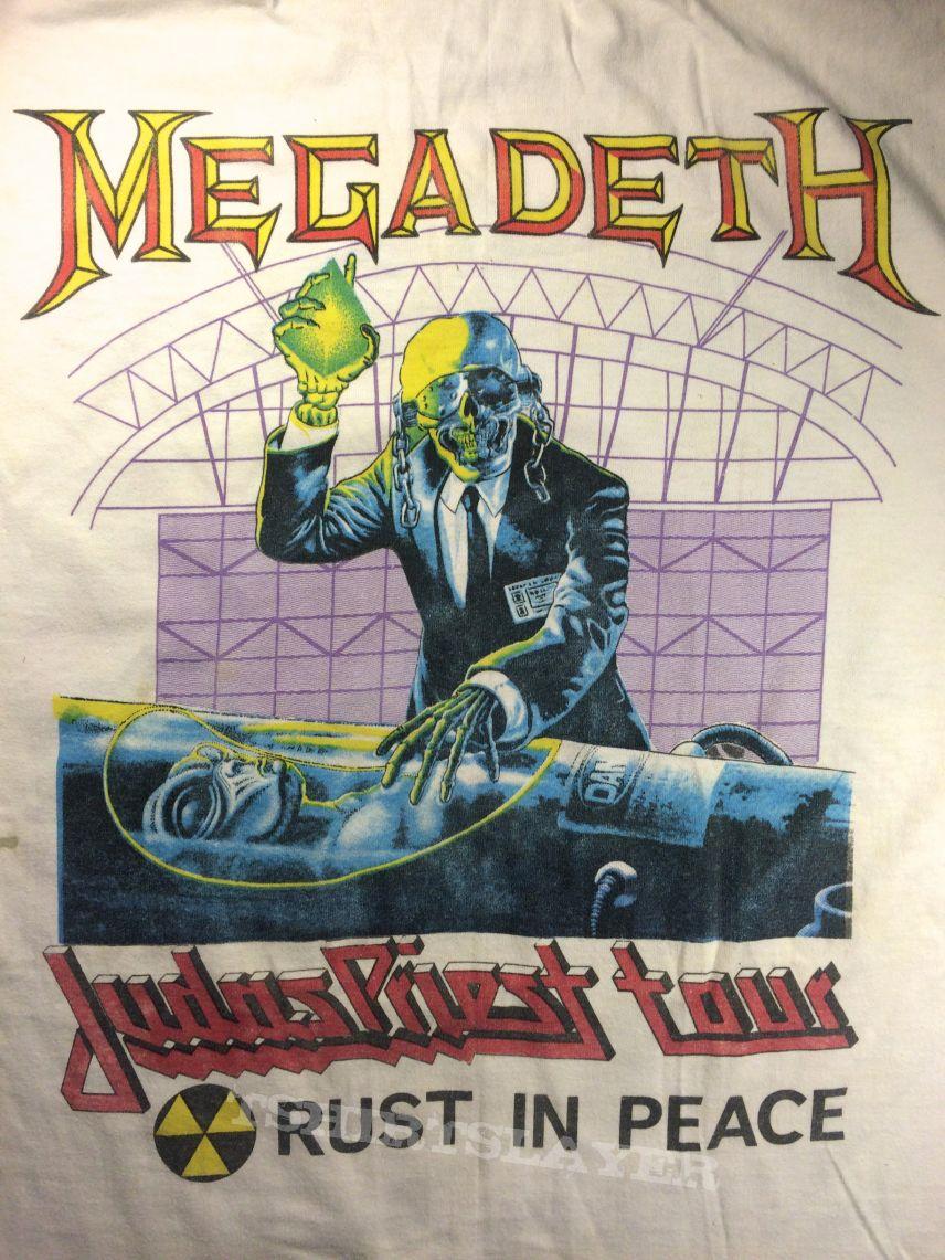 Vintage Judas Priest Painkiller Megadeth Rust in Peace Tour 1990