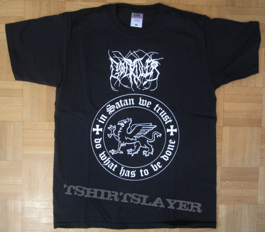 Godkiller - In Satan We Trust T- Shirt Reprint 2017 (Size M)