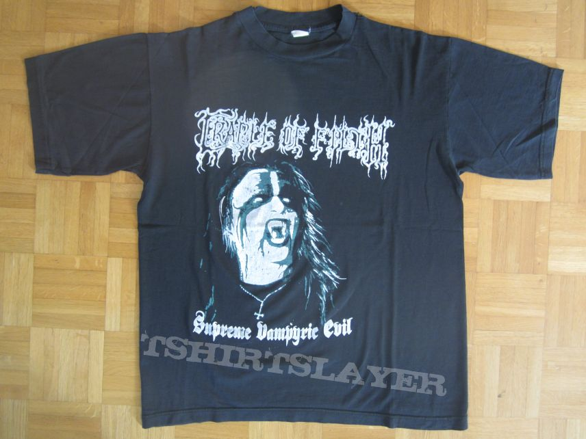 Cradle Of Filth - Supreme Vampyric Evil T- Shirt 1994 (Size M)