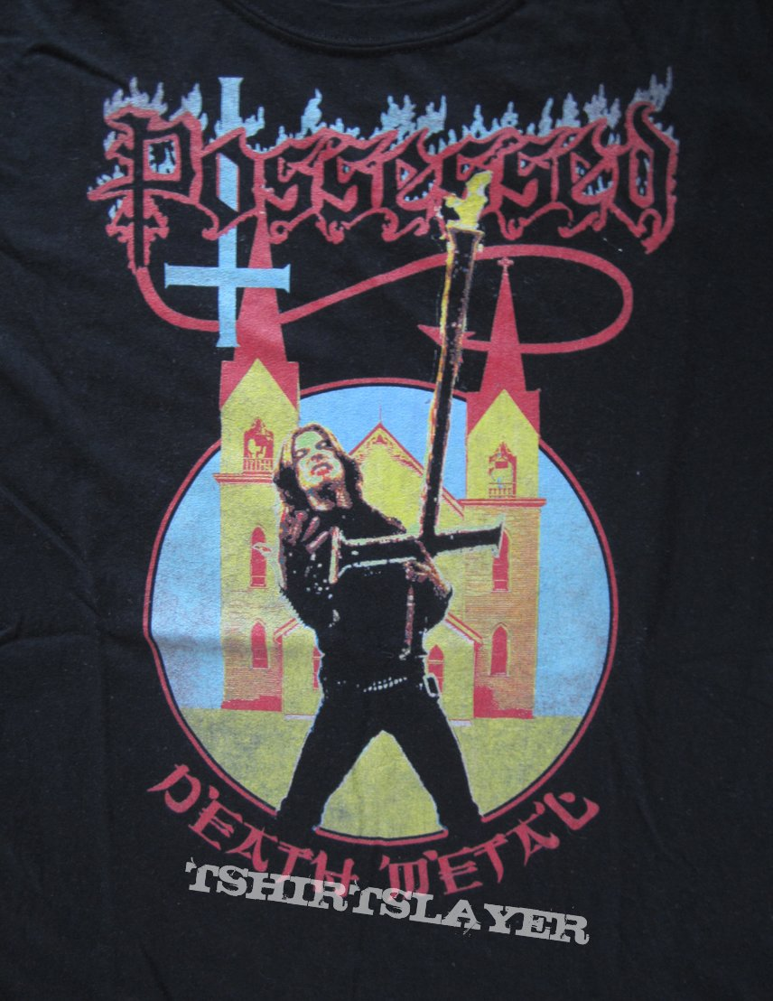 Possessed - Death Metal/ Seven Churches / Jeff Beccera T- Shirt (Size M)