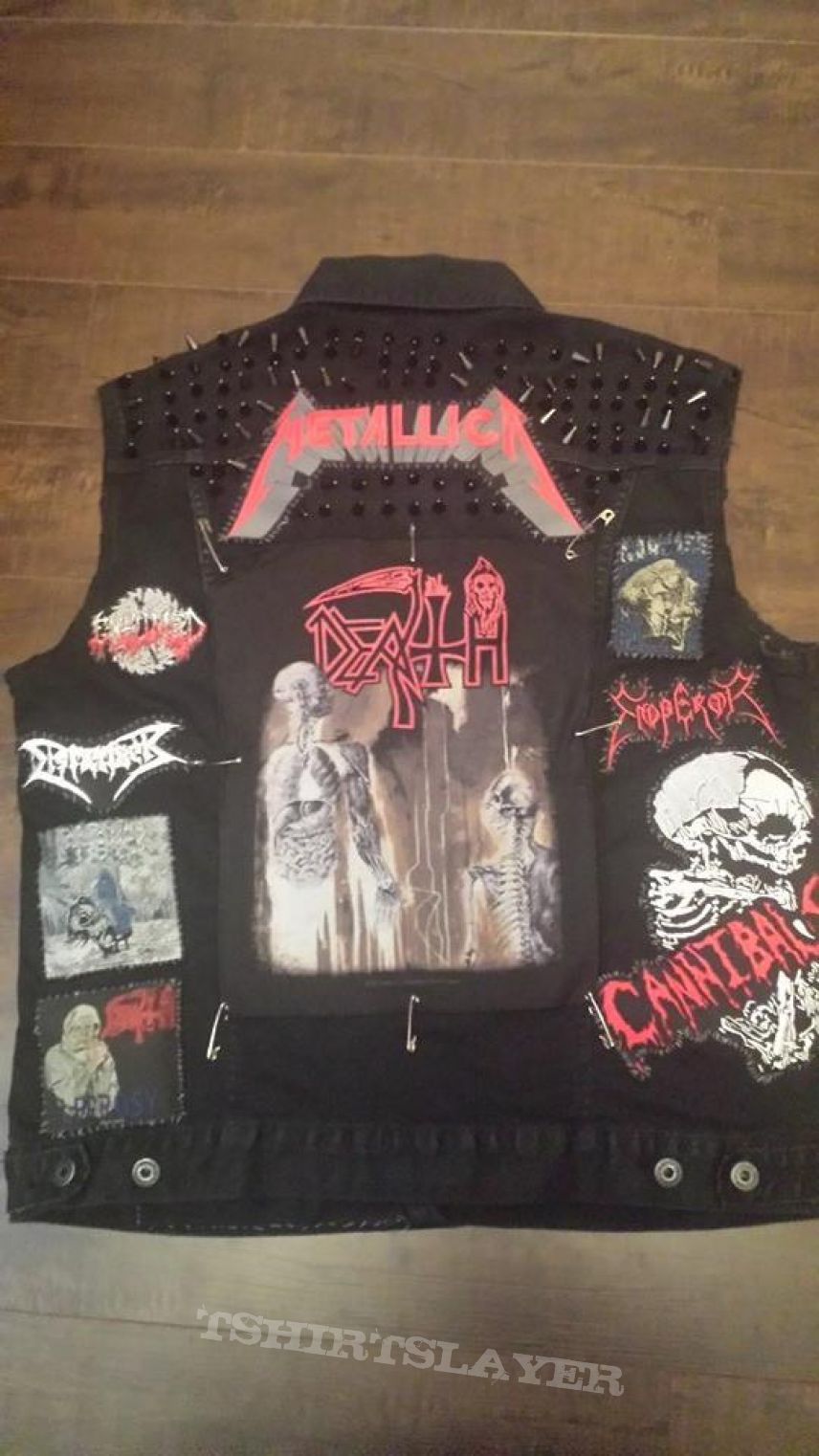Black vest, Signed By Cannibal Corpse and Behemoth