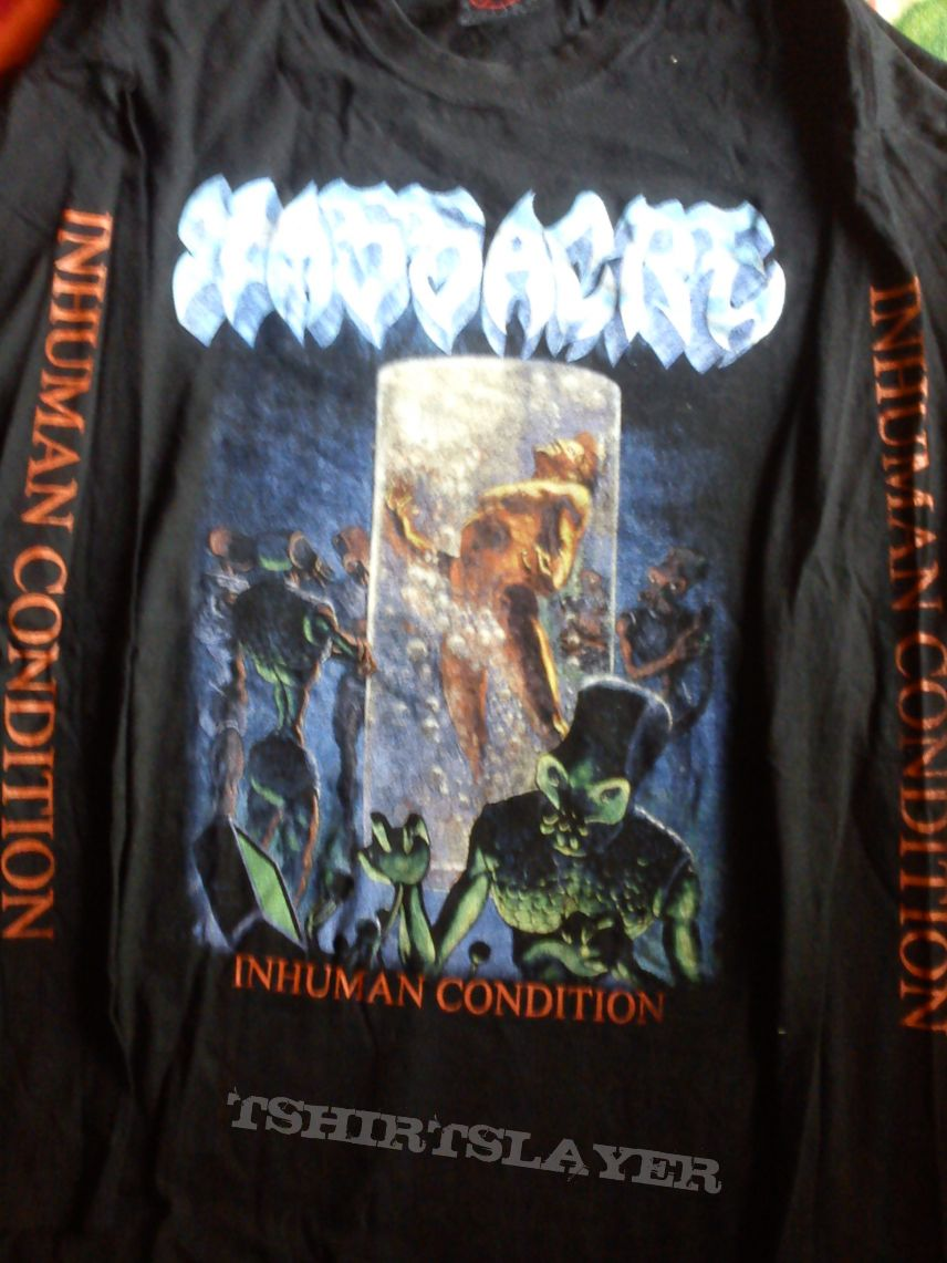 Massacre - inhuman condition , rare tshirt