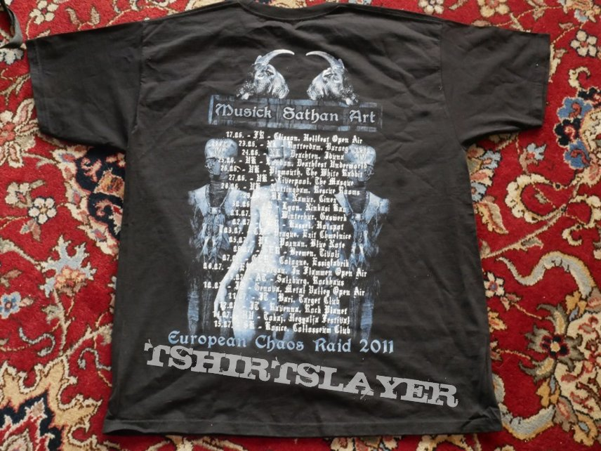 Belphegor Blood Magick Necromance EU Tour 2011 Shirt