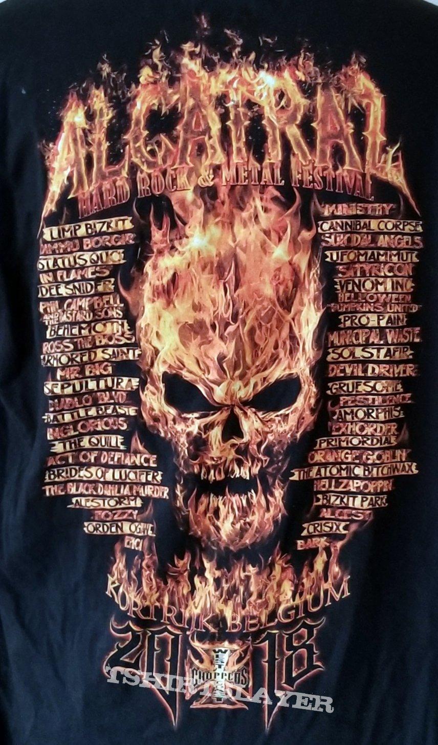 ALCATRAZ FESTIVAL 2018 Concert Shirt Belgium - M - Venom Inc, Sepultura, Helloween