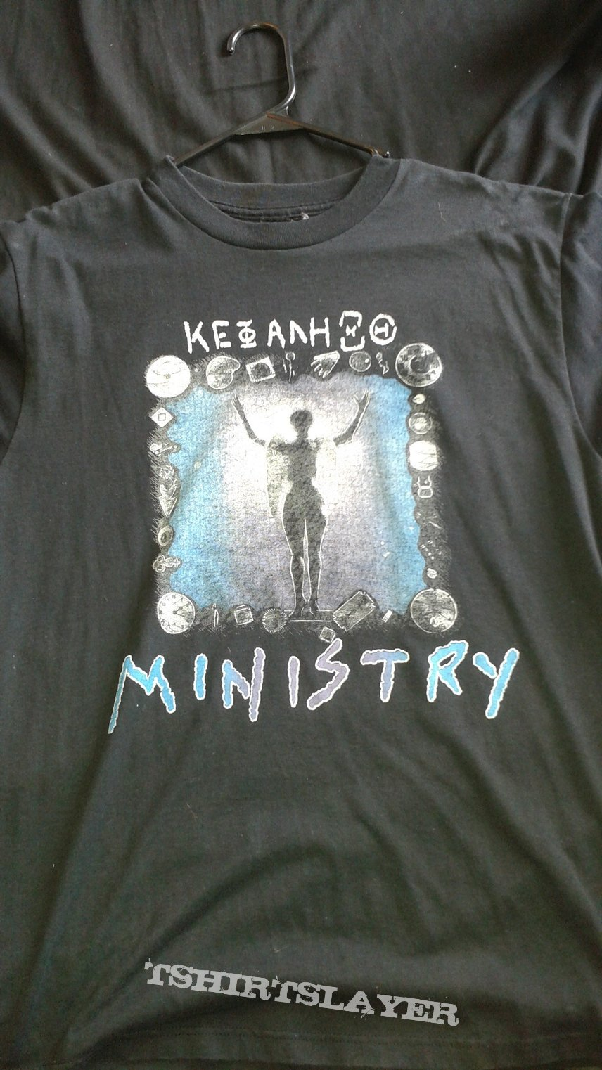 Ministry Psalm 69 Bootleg Tour Shirt with Sepultura and Helmet