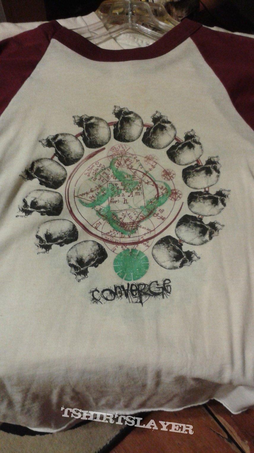 Converge Caring And Killing baseball t-shirt.