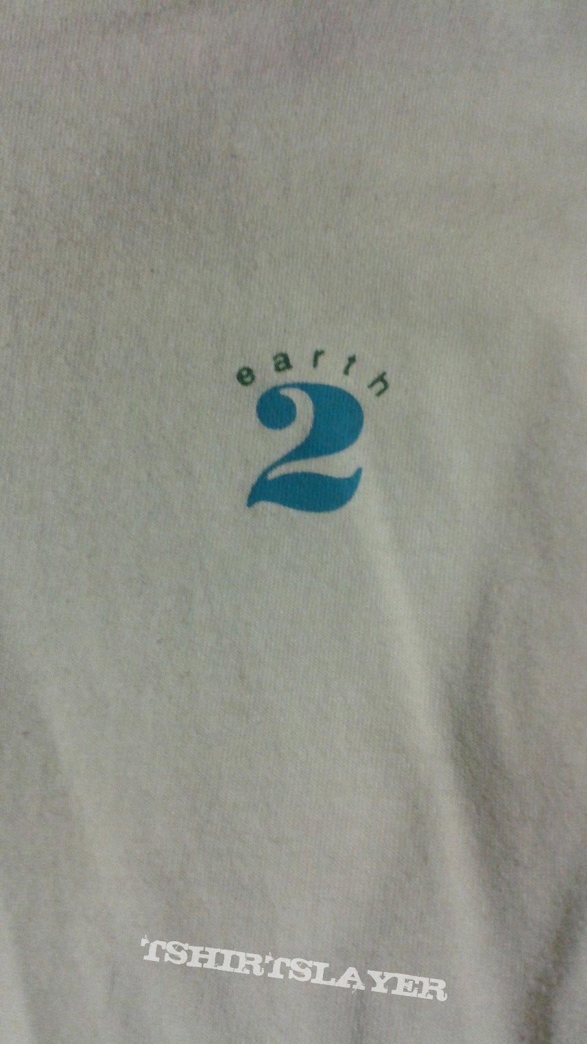 Earth 2 Double Uoglobe Brand long sleeve t-shirt.