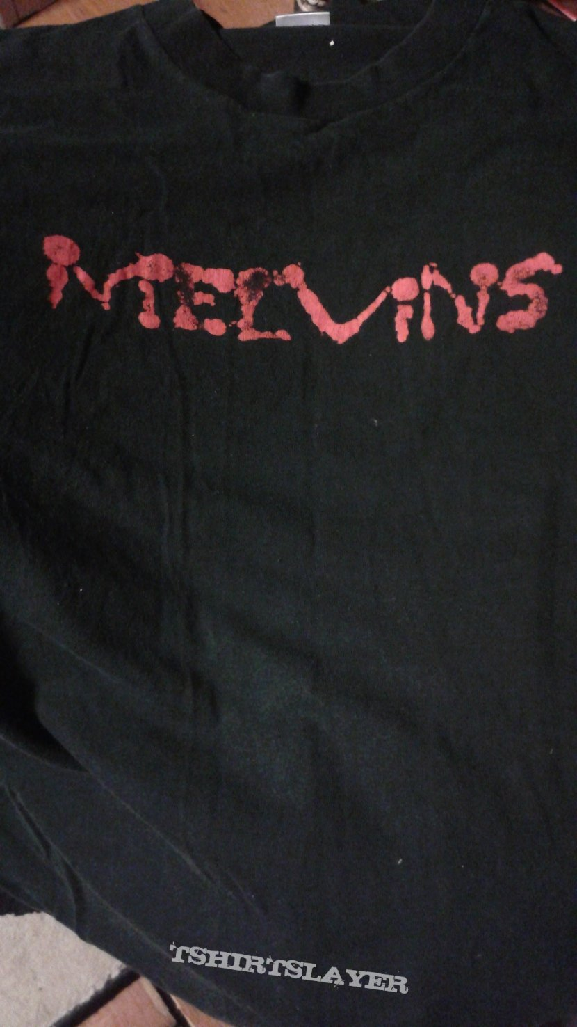 Melvins blood splatter logo t-shirt.