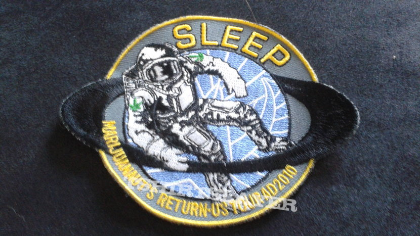 Sleep 2010 embroidered tour patch.