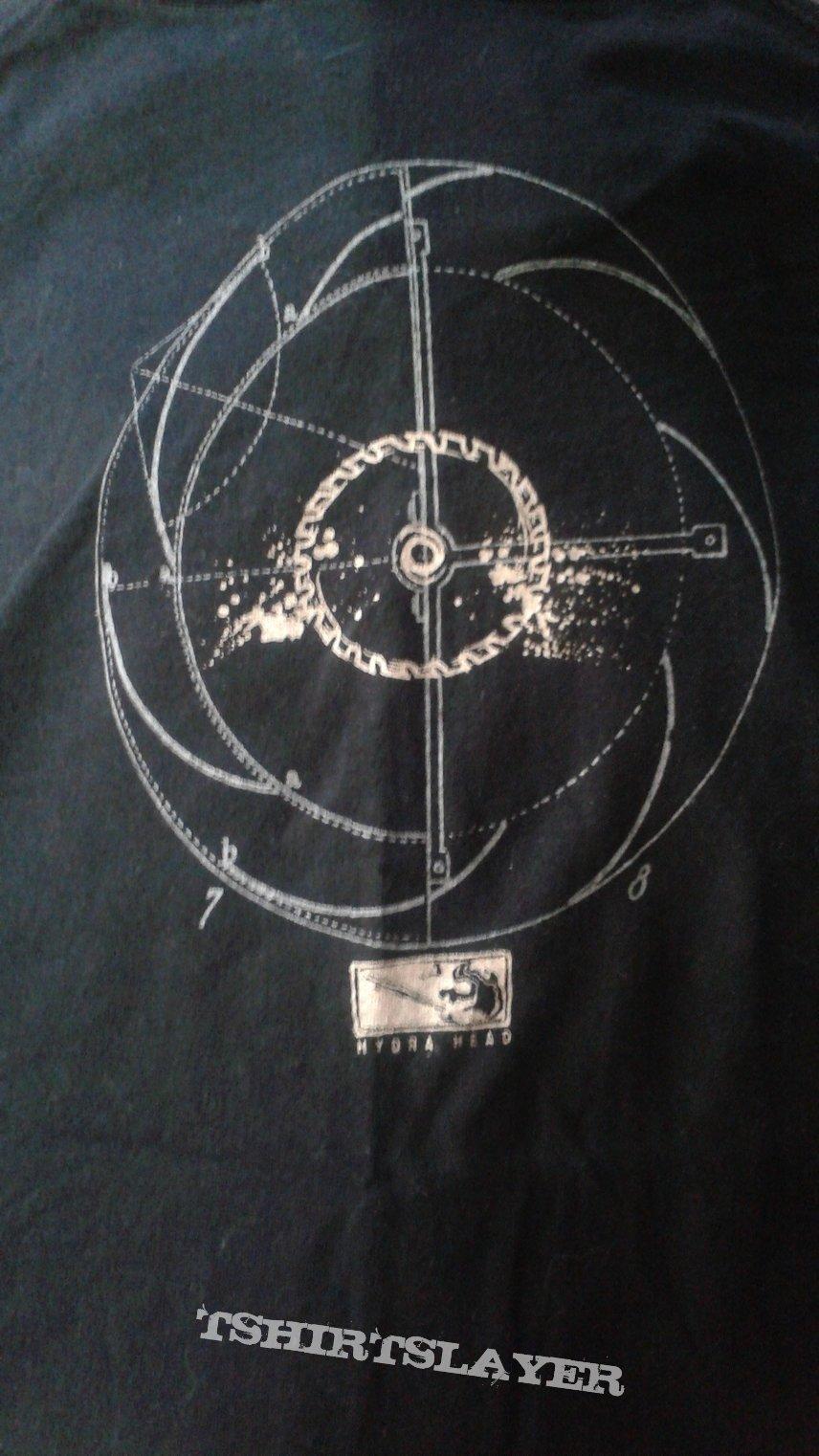 Jesuit saw blade logo t-shirt.