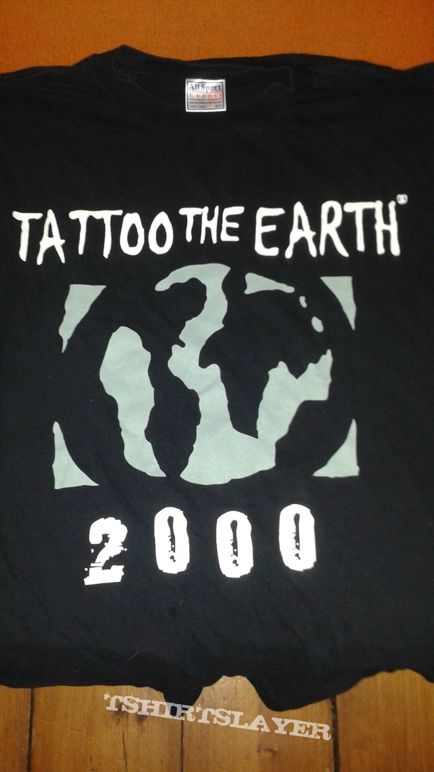Tattoo The Earth package tour 2000 Slayer, Sepultura, Slipknot, Sevendust, (Hed) PE, Nashville Pussy t-shirt.
