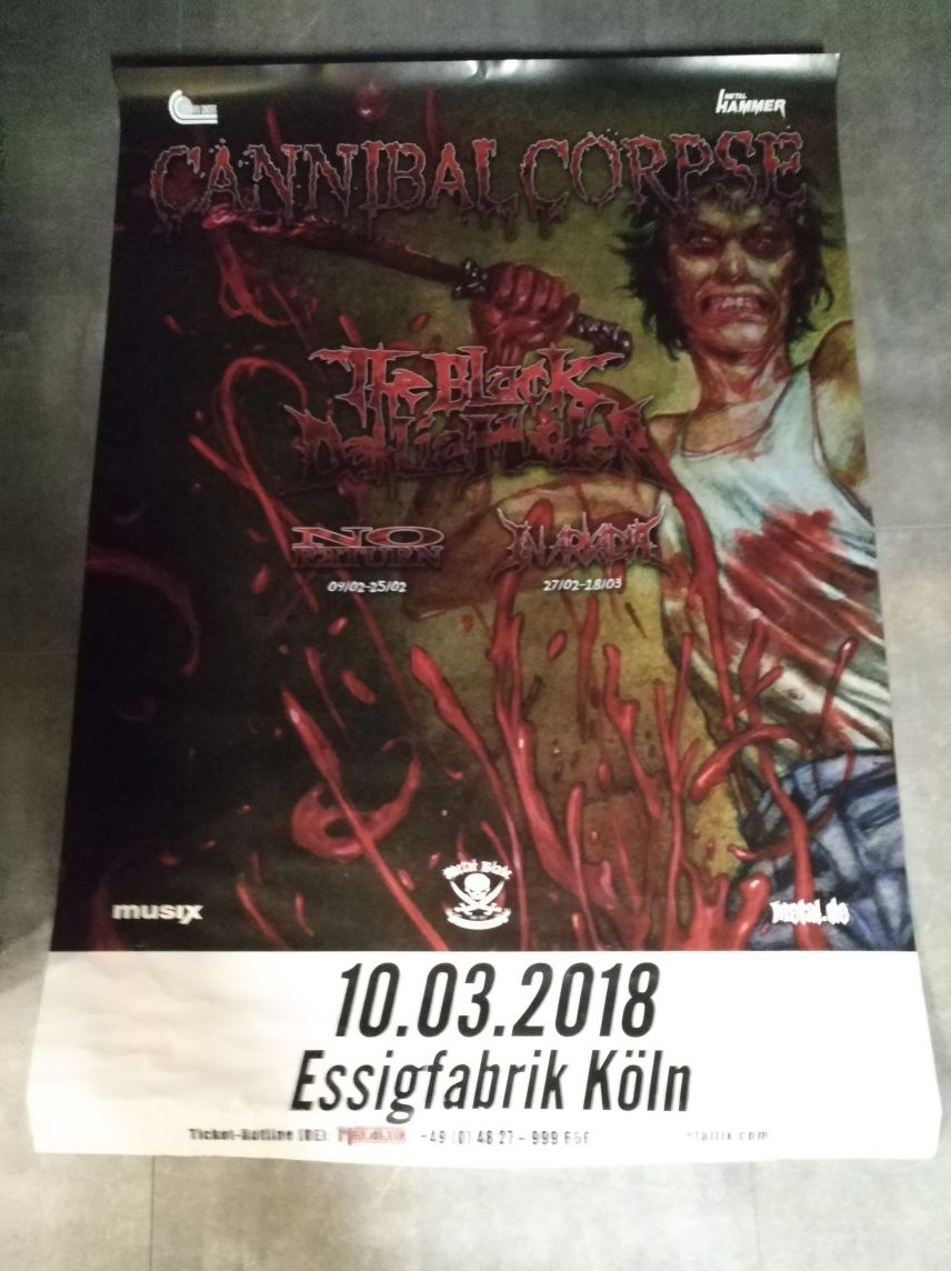 Cannibal Corpse Red before Black Tour Poster Köln