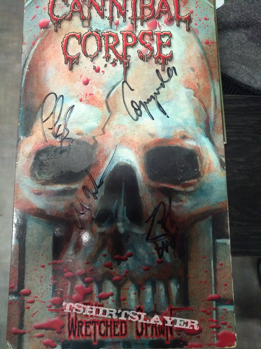 Cannibal Corpse The Wretched Spawn (signed)