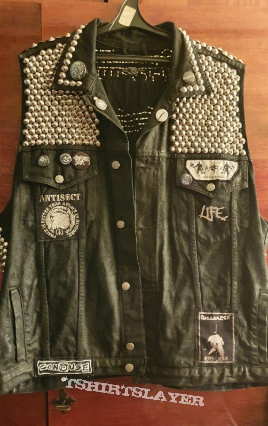 crust punk vest, 1500+ studs v2.0