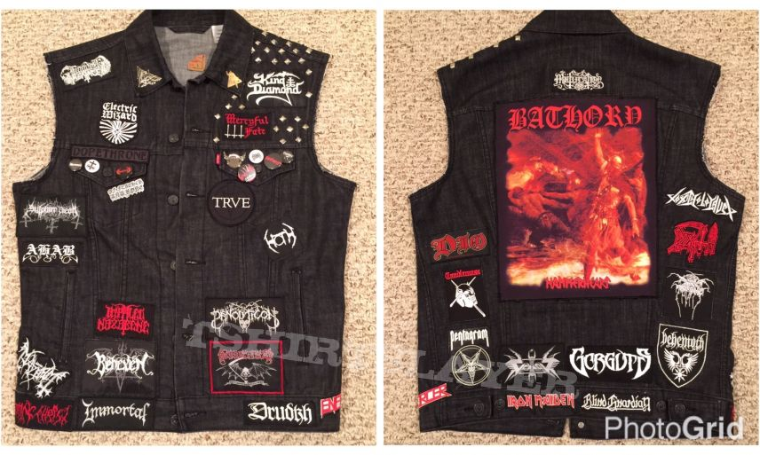Black, white and red vest - one year out