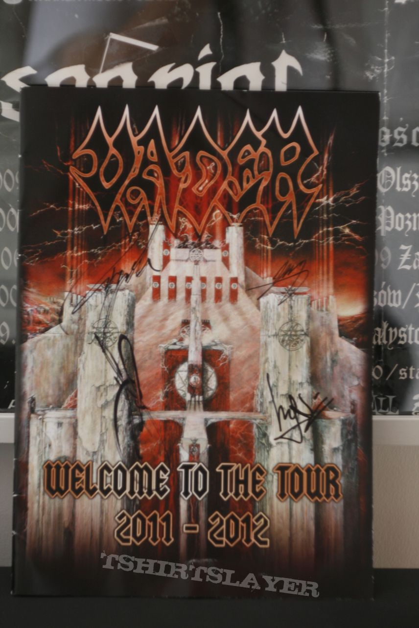 Vader - Tourbook 'Welcome to the Tour 2011-2012' with Signatures