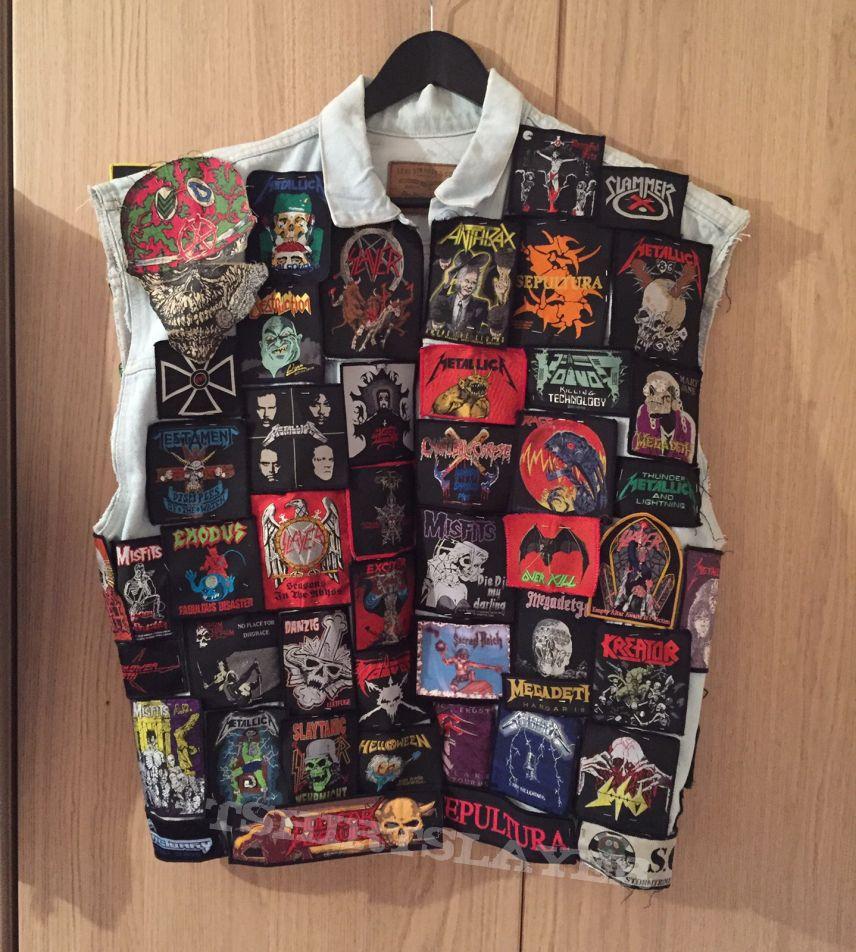 80s thrash battle jacket