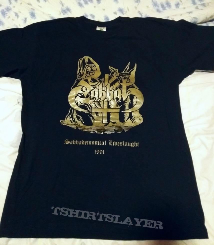 Sabbat - Sabbademonical Liveslaught shirt