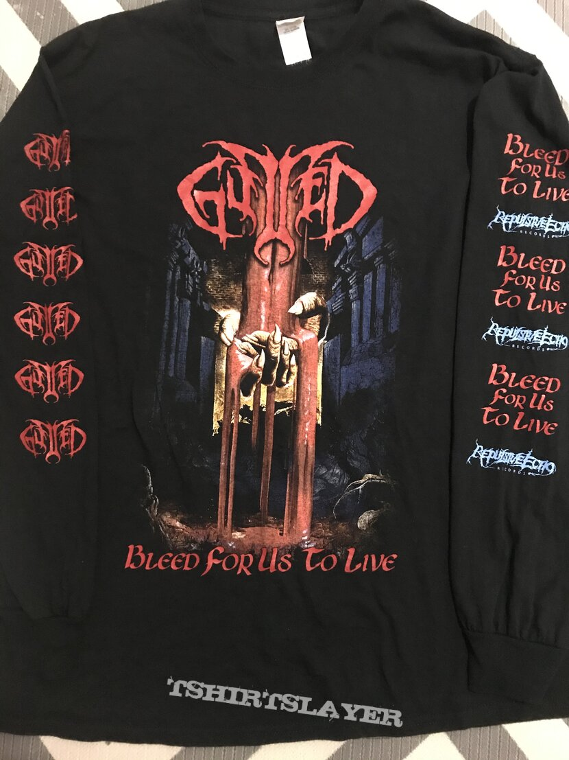 Gutted - Bleed for Us to Live long sleeve t-shirt
