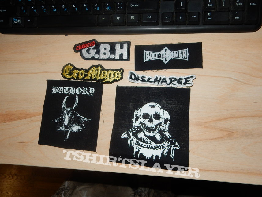 Pack of metal punk patches
