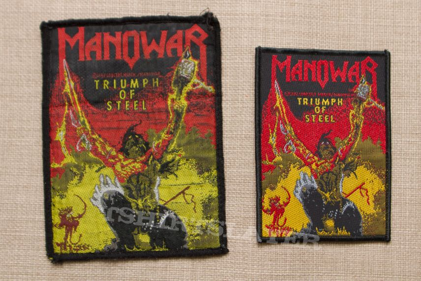 Manowar - Triumph of Steel Patch comparision