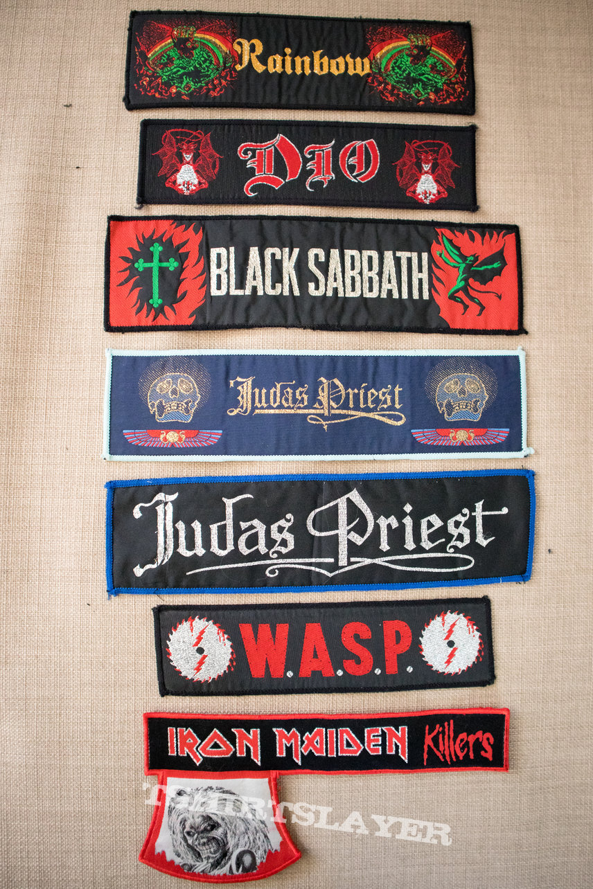 Heavy Metal stripe patch collection