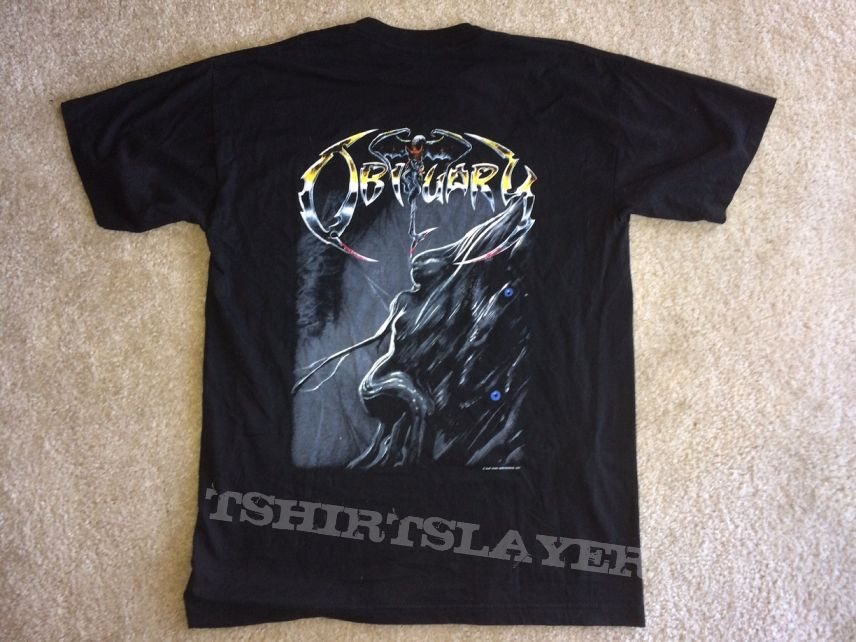Obituary Shirt 1993 Blue Grape