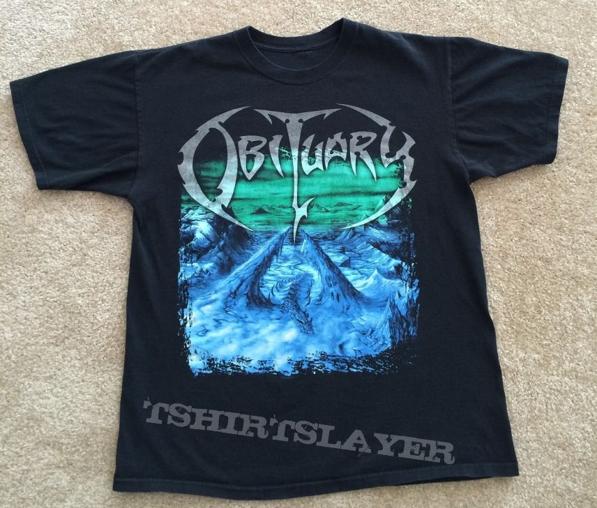 Obituary Frozen In Time Shirt (sold)