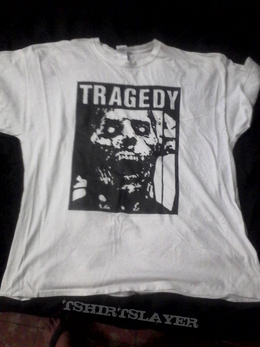Tragedy white t