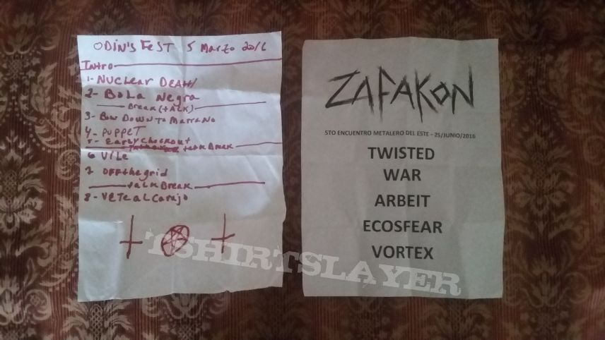Setlists from two local bands