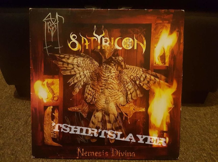 Satyricon  - Nemesis Divina original LP SIGNED by Frost and Satyr