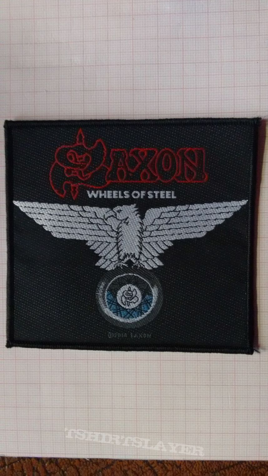 Official Saxon - Wheels Of Steel woven patch