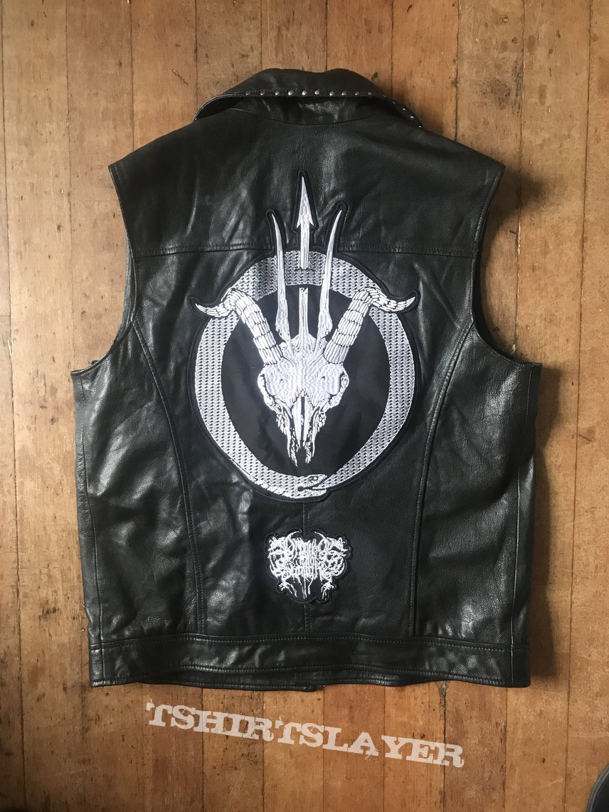 Custom made Dragged into sunlight DIY Leather Battle Jacket / vest