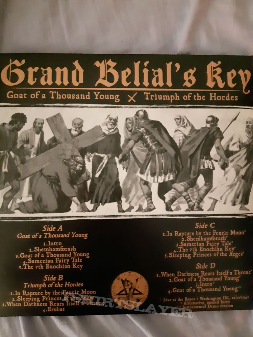Grand Belial's Key ‎– Goat Of A Thousand Young / Triumph Of The Hordes LP