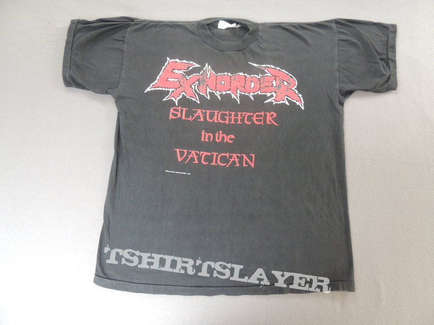 Exhorder - Slaughter in the Vatican Tour 1991 Shirt
