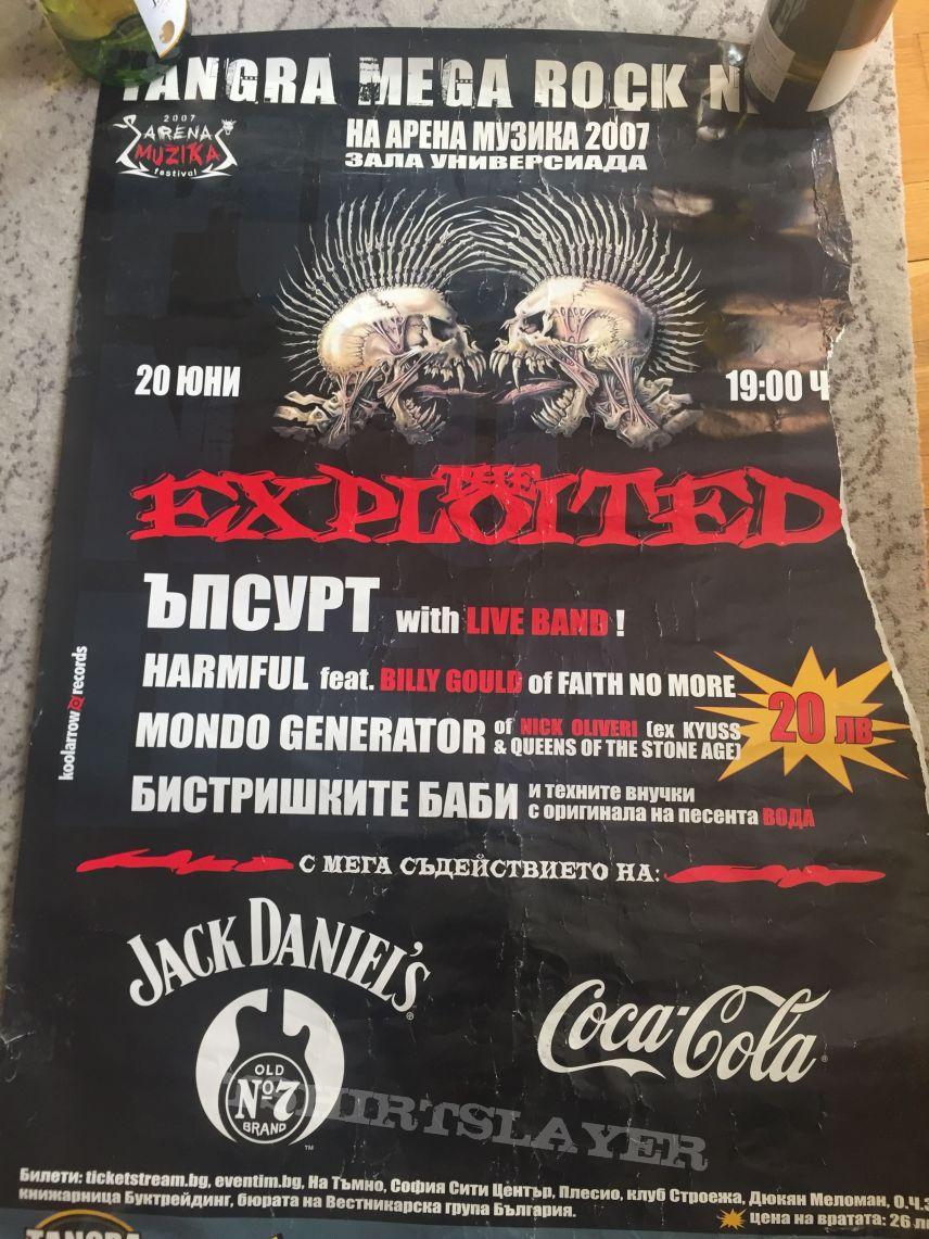 The Exploited - Poster Arena Muzika Fest 2007